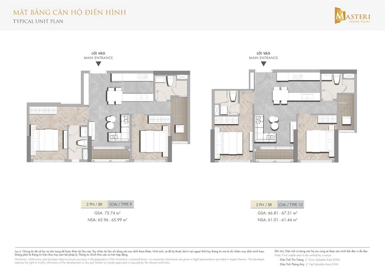 Thiết kế dự án căn hộ chung cư  Masterise Centre Point Quận 9 Đường Nguyễn Xiển chủ đầu tư Vingroup
