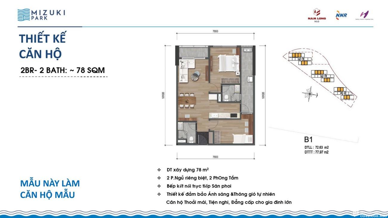 Thiết kế dự án căn hộ chung cư Mizuki Park Bình Chánh Đường Nguyễn Văn Linh chủ đầu tư Nam Long
