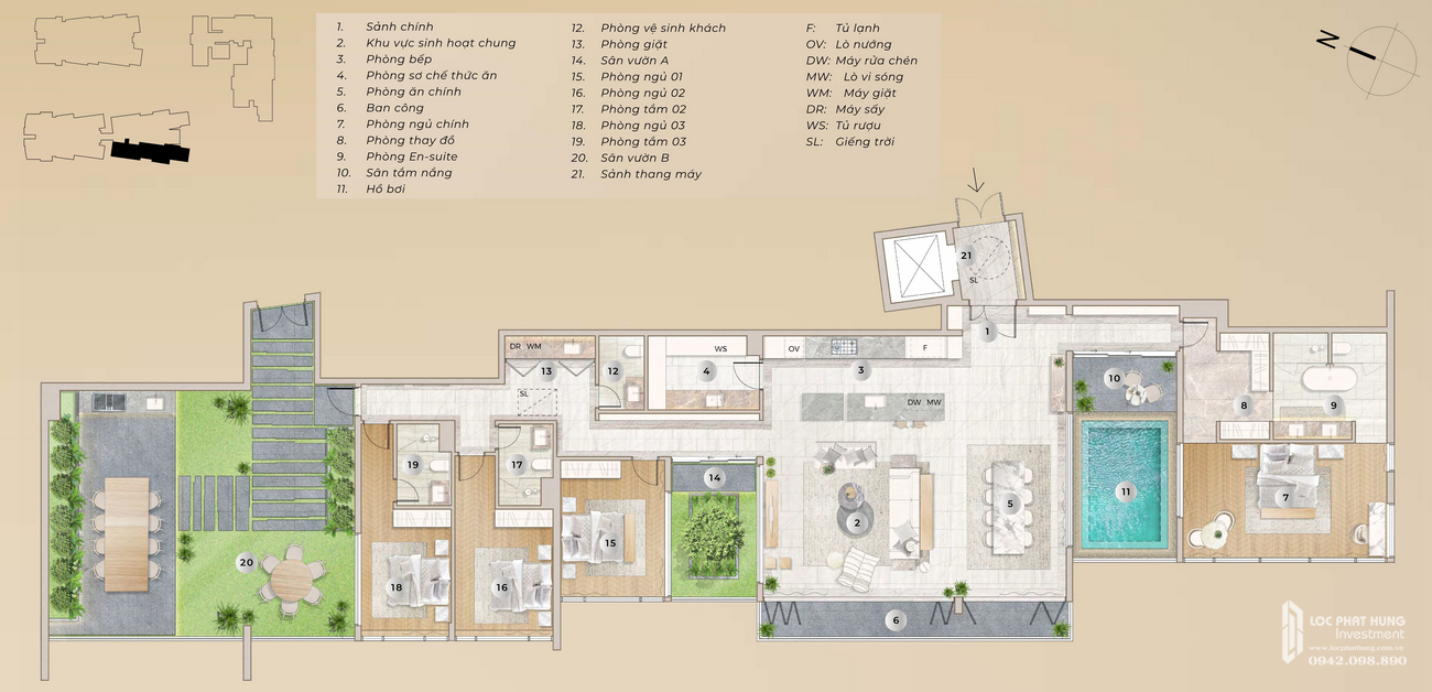 Thiết kế dự án căn hộ The River Thủ Thiêm Quận 2 Đường Nguyễn Cơ Thạch chủ đầu tư Refico