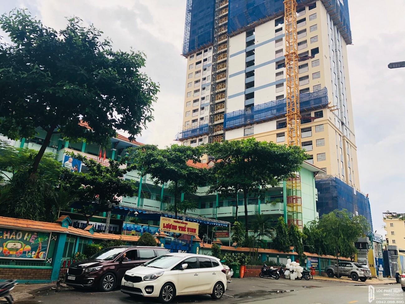 Tiến độ dự án căn hộ chung cư Soho Residence Quận 1 chủ đầu tư Novaland - cập nhật ngày 24/08/2020