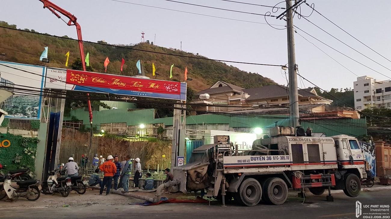 Tiến độ xây dựng dự án Condotel Oyster Gành Hào Vũng Tàu tháng 01/2020