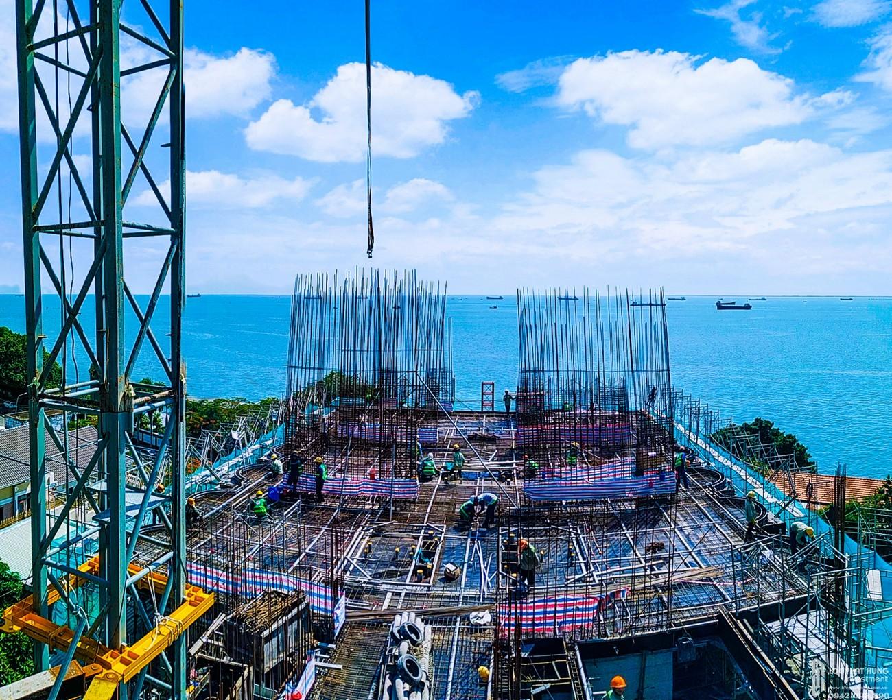 Tiến độ dự án căn hộ Condotel Oyster Gành Hào Vũng Tàu chủ đầu tư Vietpearl Group tháng 07/2020