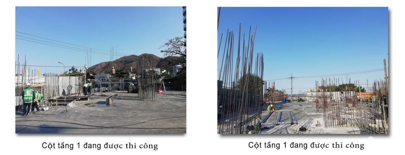Tiến độ xây dựng dự án Condotel Oyster Gành Hào Vũng Tàu tháng 02/2020