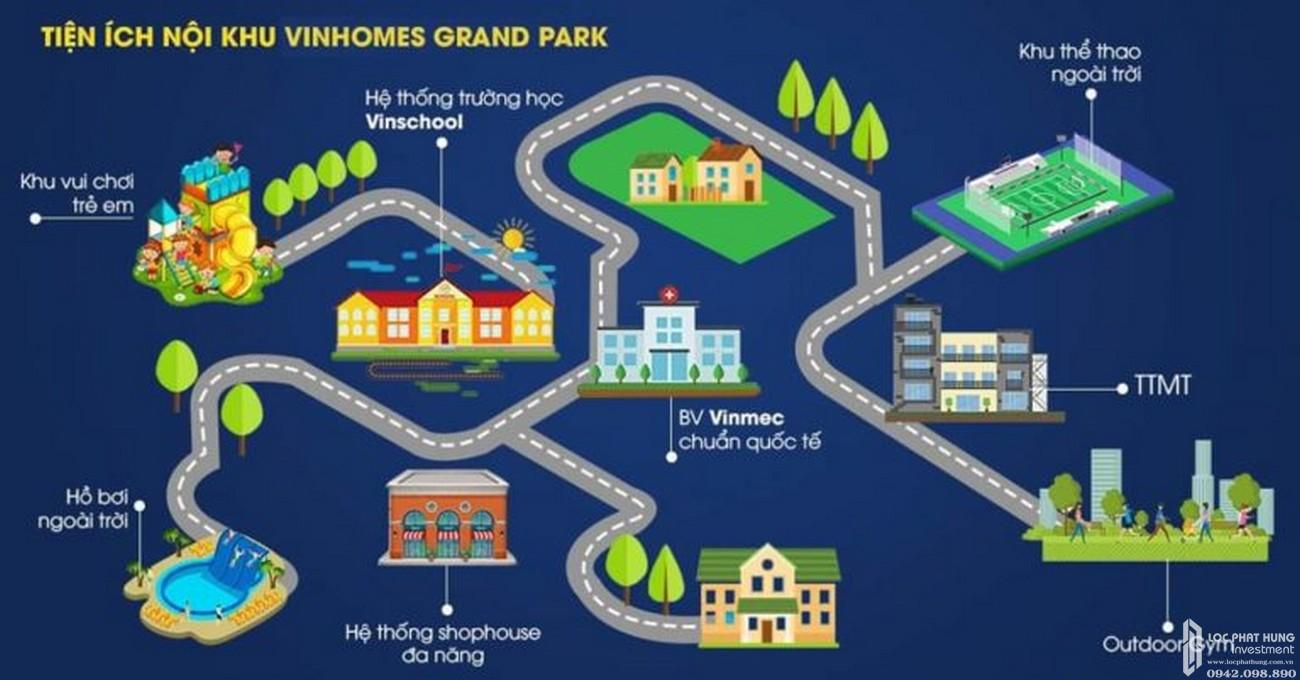 Tiện ích nội khu Vinhomes Grand Park