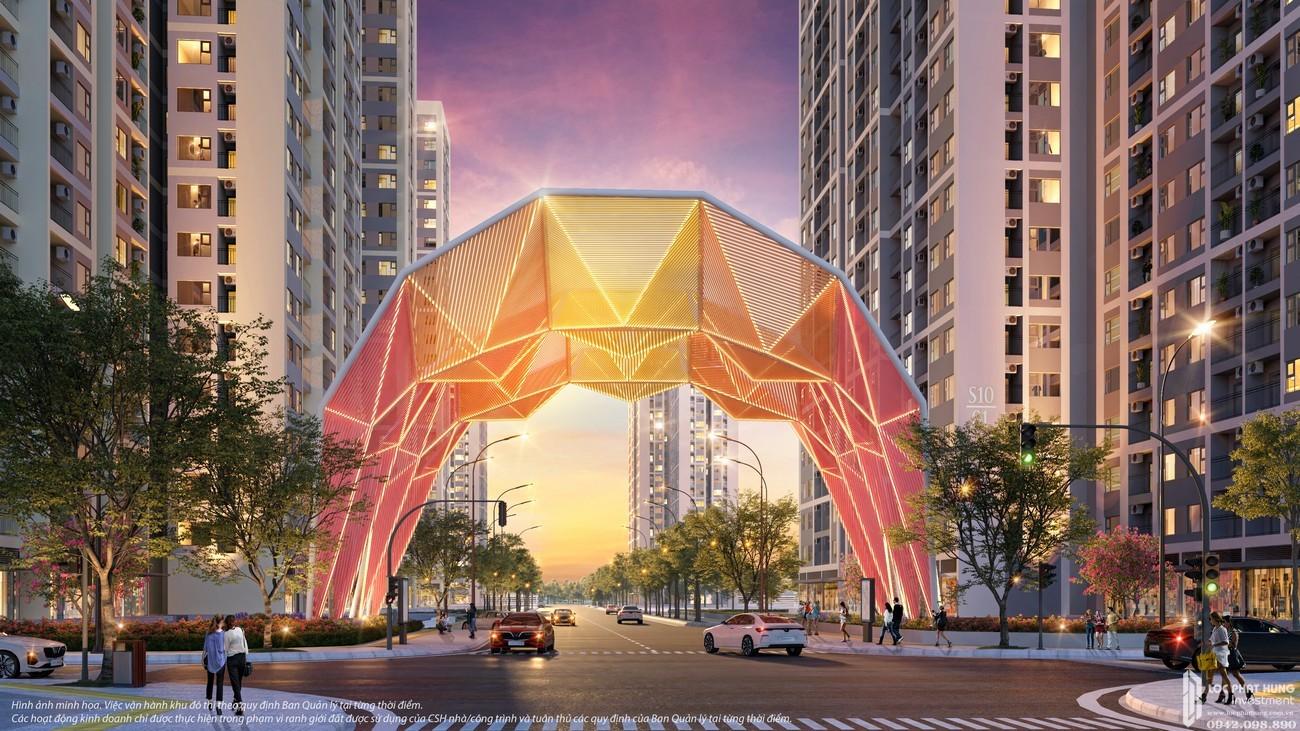 cổng chào biểu tượng The Origami Vinhomes Grand Park quận 9