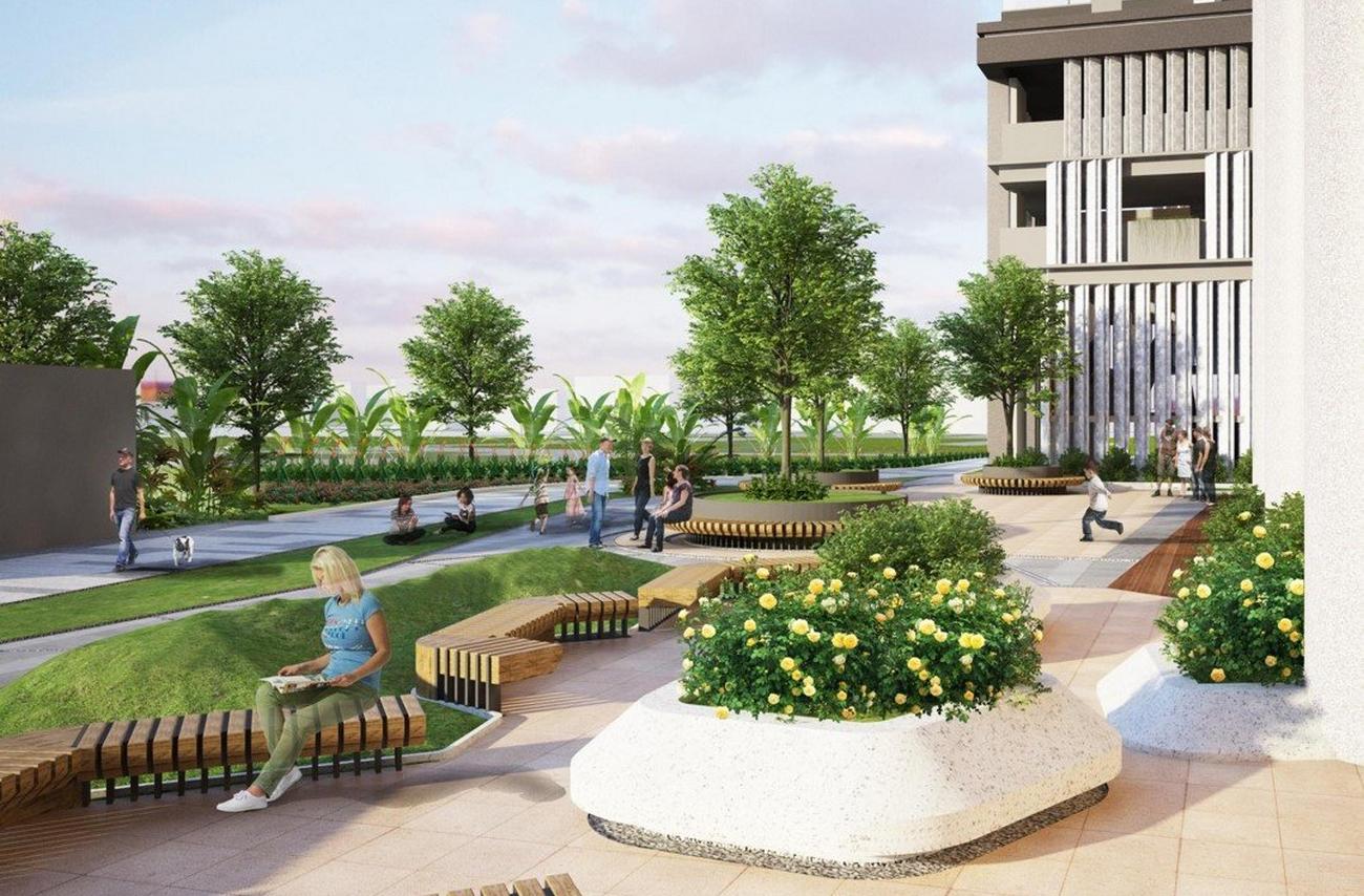 Tiện ích dự án căn hộ chung cư C River View Thủ Dầu Một Đường Nguyễn Tri Phương chủ đầu tư Chánh Nghĩa Quốc Cường