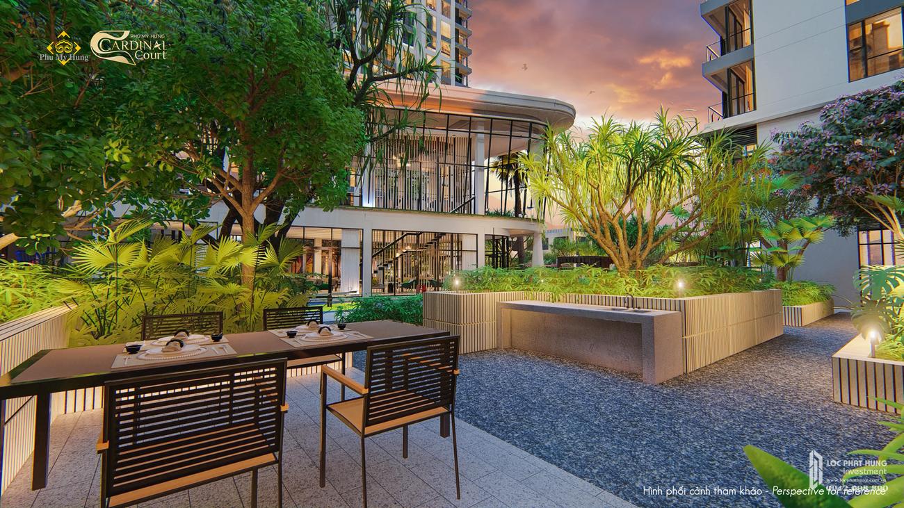 Tiện ích dự án căn hộ chung cư Cardinal Court Quận 7 Đường Raymondienne chủ đầu tư Phú Mỹ Hưng