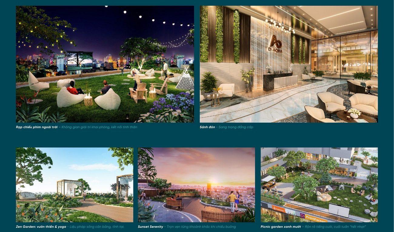 Tiện ích dự án căn hộ chung cư D Aqua Quận 8 chủ đầu tư DHA Corp