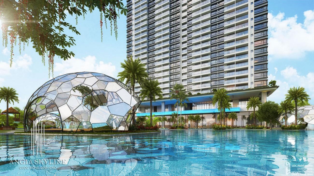 Tiện ích dự án căn hộ chung cư Skyline Quận 7 Đường Hoàng Quốc Việt chủ đầu tư An Gia