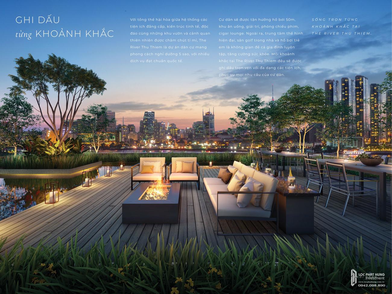 Tiện ích dự án căn hộ The River Thủ Thiêm Quận 2 Đường Nguyễn Cơ Thạch chủ đầu tư Refico