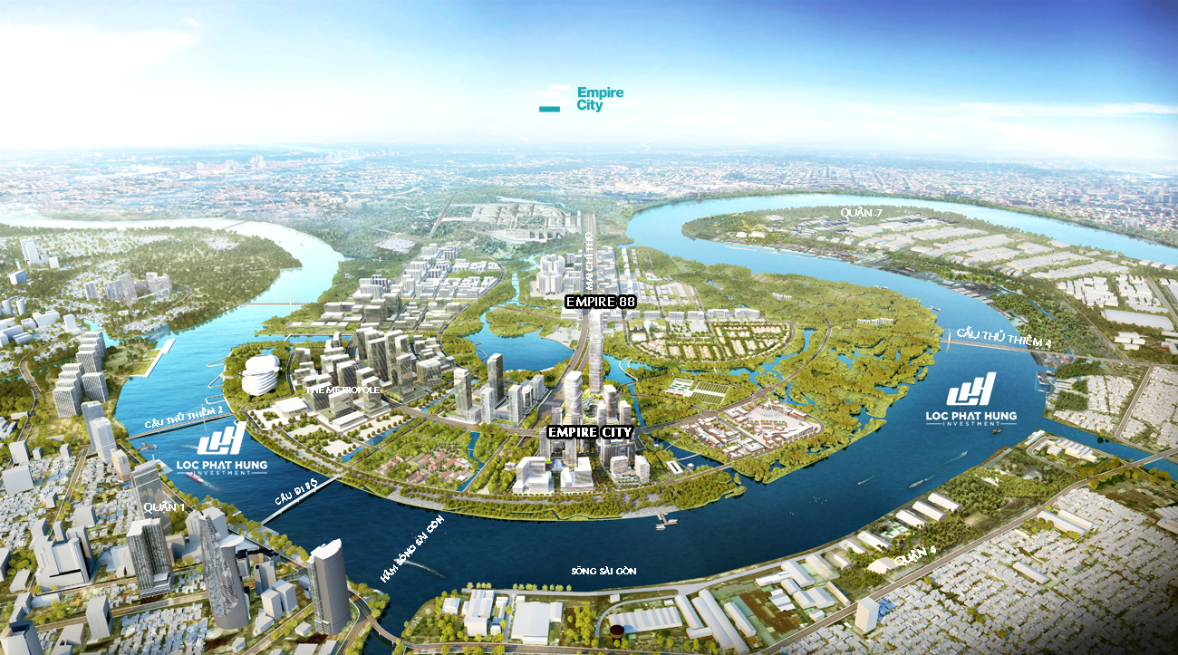 Toàn cảnh khu đô thị Empire City Thủ Thiêm Quận 2