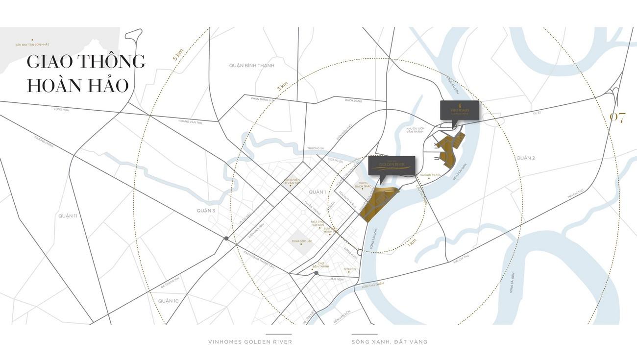 Vị trí địa chỉ dự án căn hộ Vinhomes Golden River Quận 1 Đường Nguyễn Hữu Cảnh chủ đầu tư Vingroup