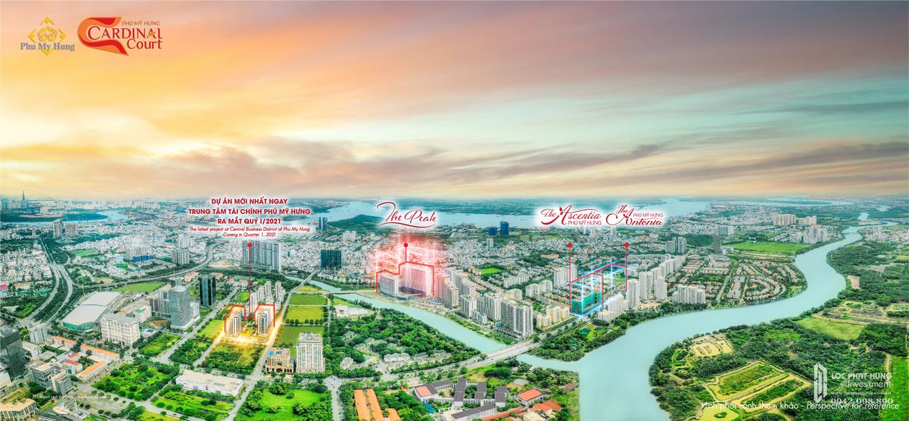 Vị trí địa chỉ dự án căn hộ chung cư Cardinal Court  Quận 7 Đường Raymondienne chủ đầu tư Phú Mỹ Hưng
