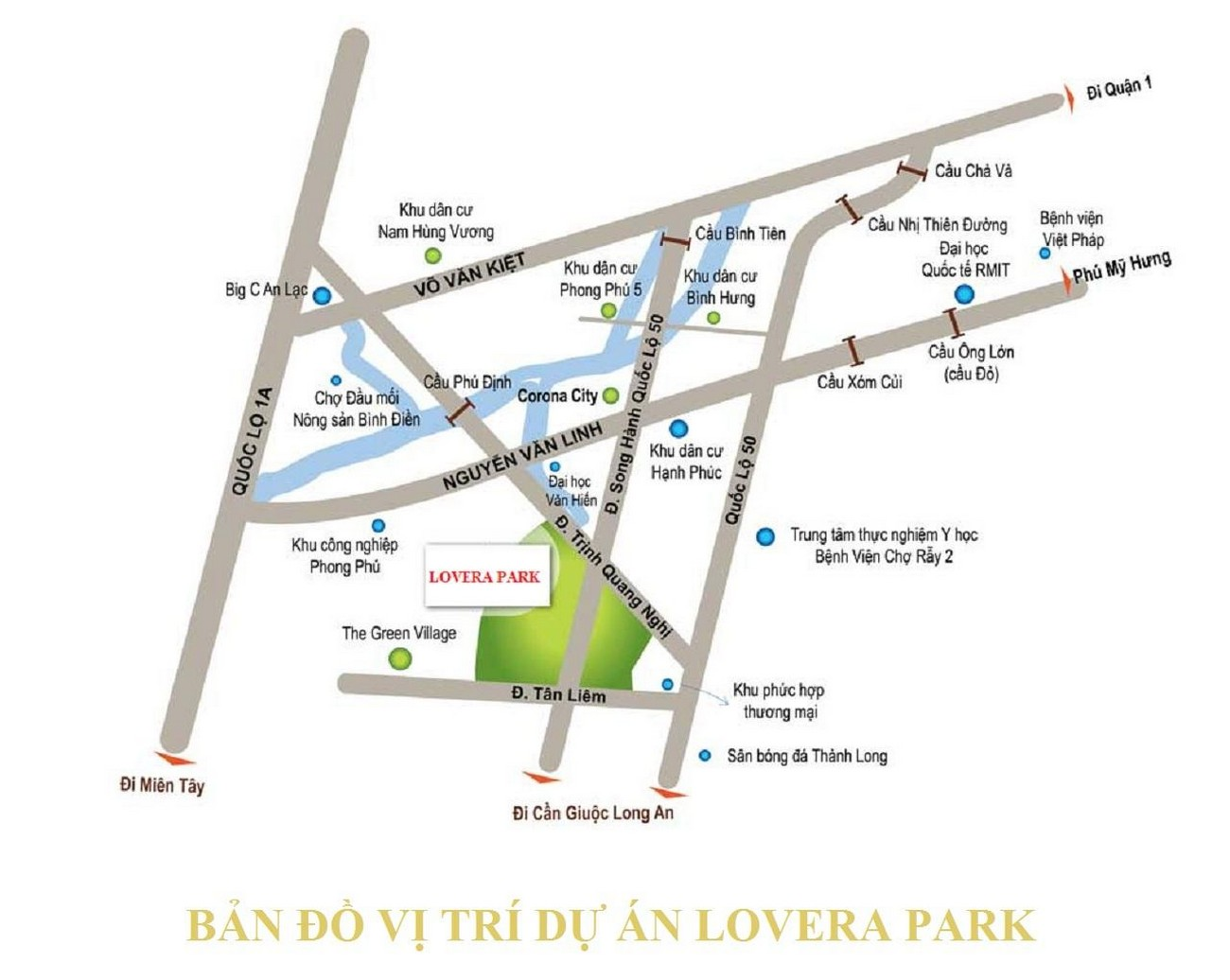 Vị trí dự án Lovera Premier Chủ đầu tư Khang Điền Bình Chánh