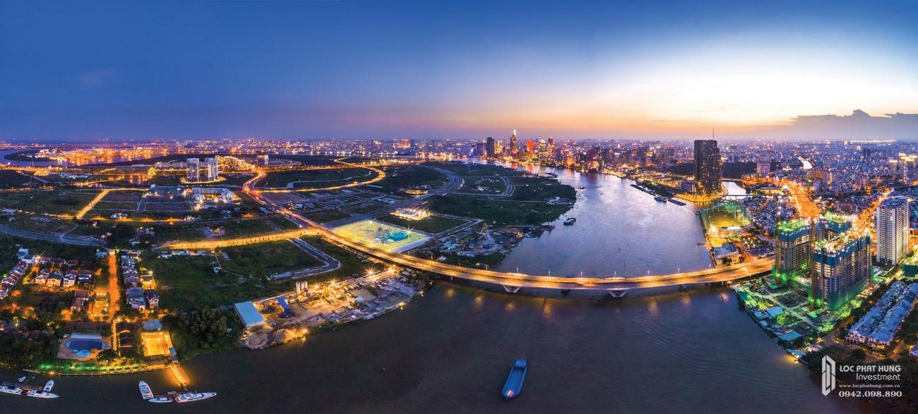 Vị trí địa chỉ dự án căn hộ The River Thủ Thiêm Quận 2 Đường Nguyễn Cơ Thạch chủ đầu tư Refico