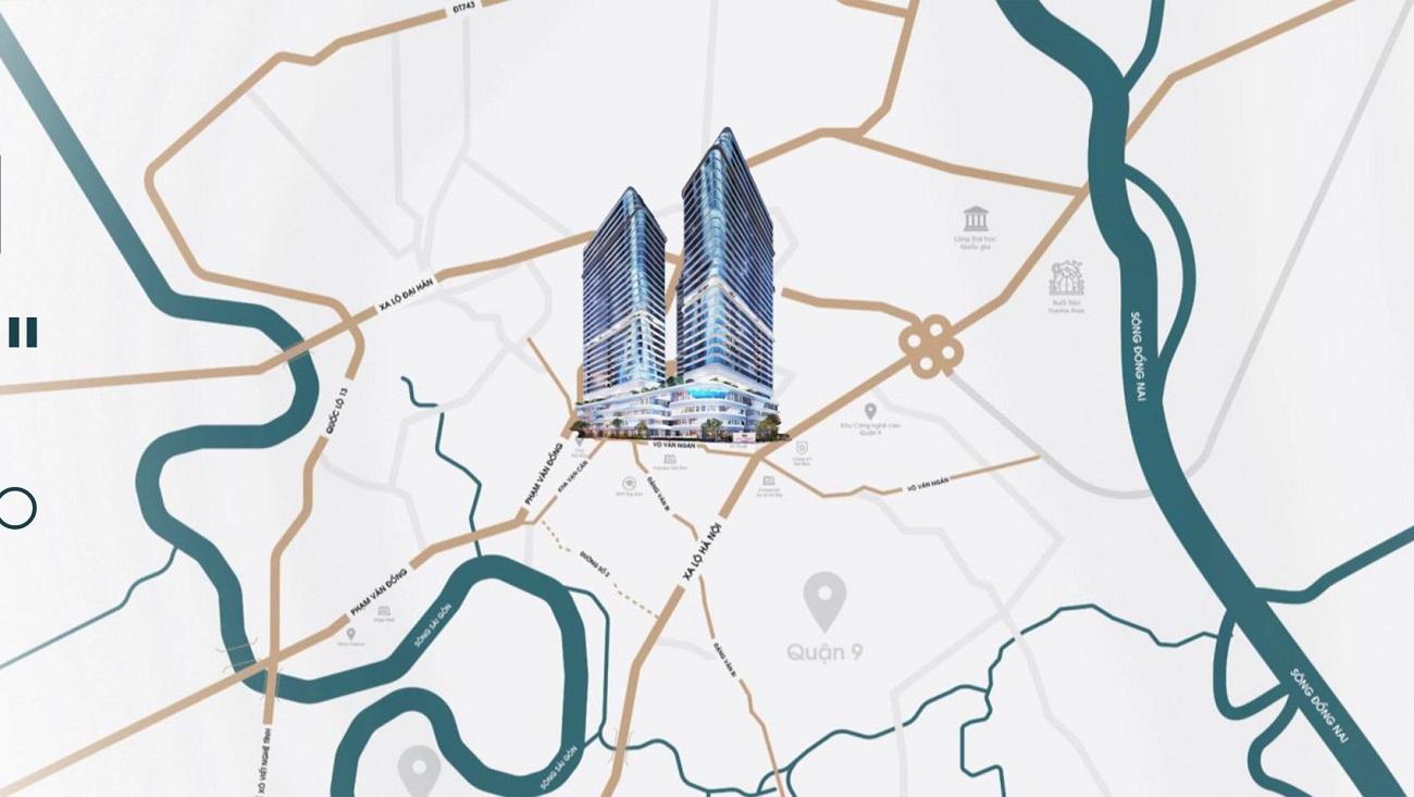 Vị trí địa chỉ chính xác dự án King Crown Infinity Quận Thủ Đức