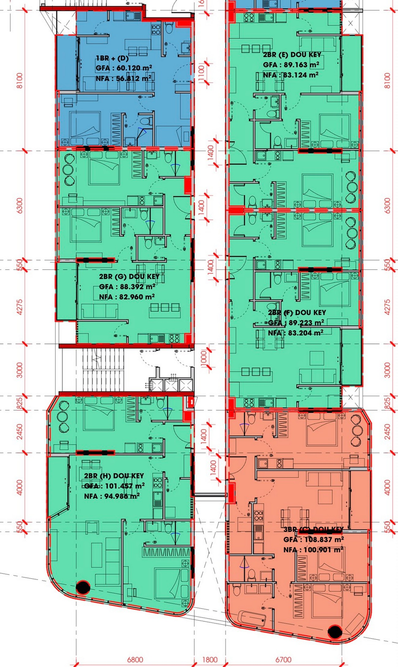 Mặt bằng dự án căn hộ chung cư King Crown Center Thủ Đức Đường Võ Văn Ngân chủ đầu tư Gia Khang