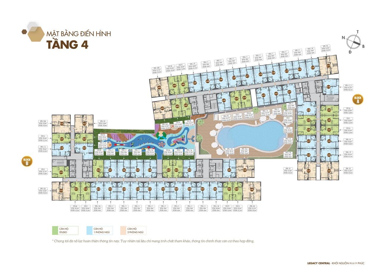Mặt bằng dự án căn hộ chung cư Legacy Central Thuận An Bình Dương chủ đầu tư Kim Oanh Group