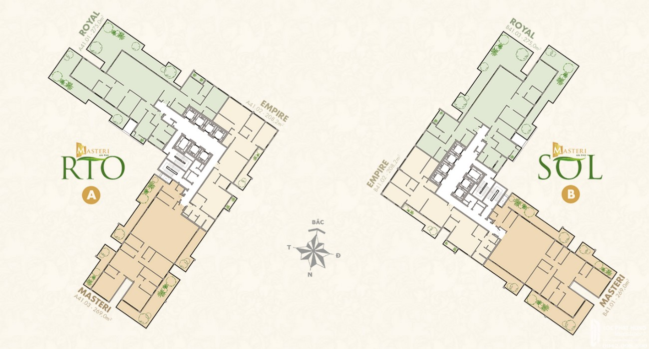 Mặt bằng dự án căn hộ chung cư Masteri An Phú Quận 2 Đường 179 Xa lộ Hà Nội chủ đầu tư Masterise Homes