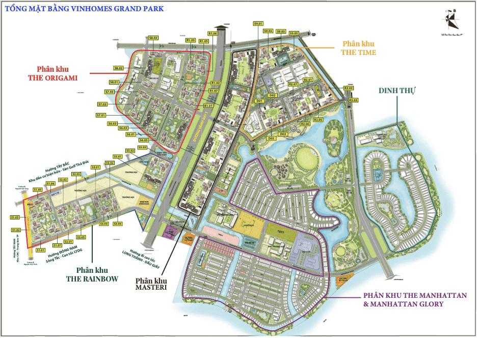 Mặt bằng tổng thể The Vinhomes Grand Park