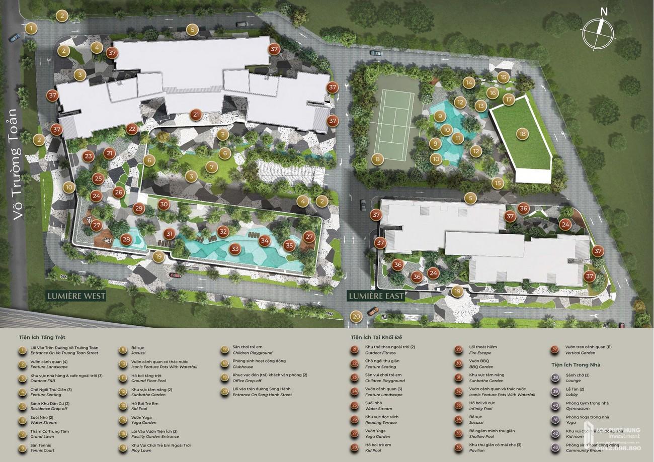 Mặt bằng tổng thể dự án căn hộ chung cư Masteri Lumière Riverside Quận 2