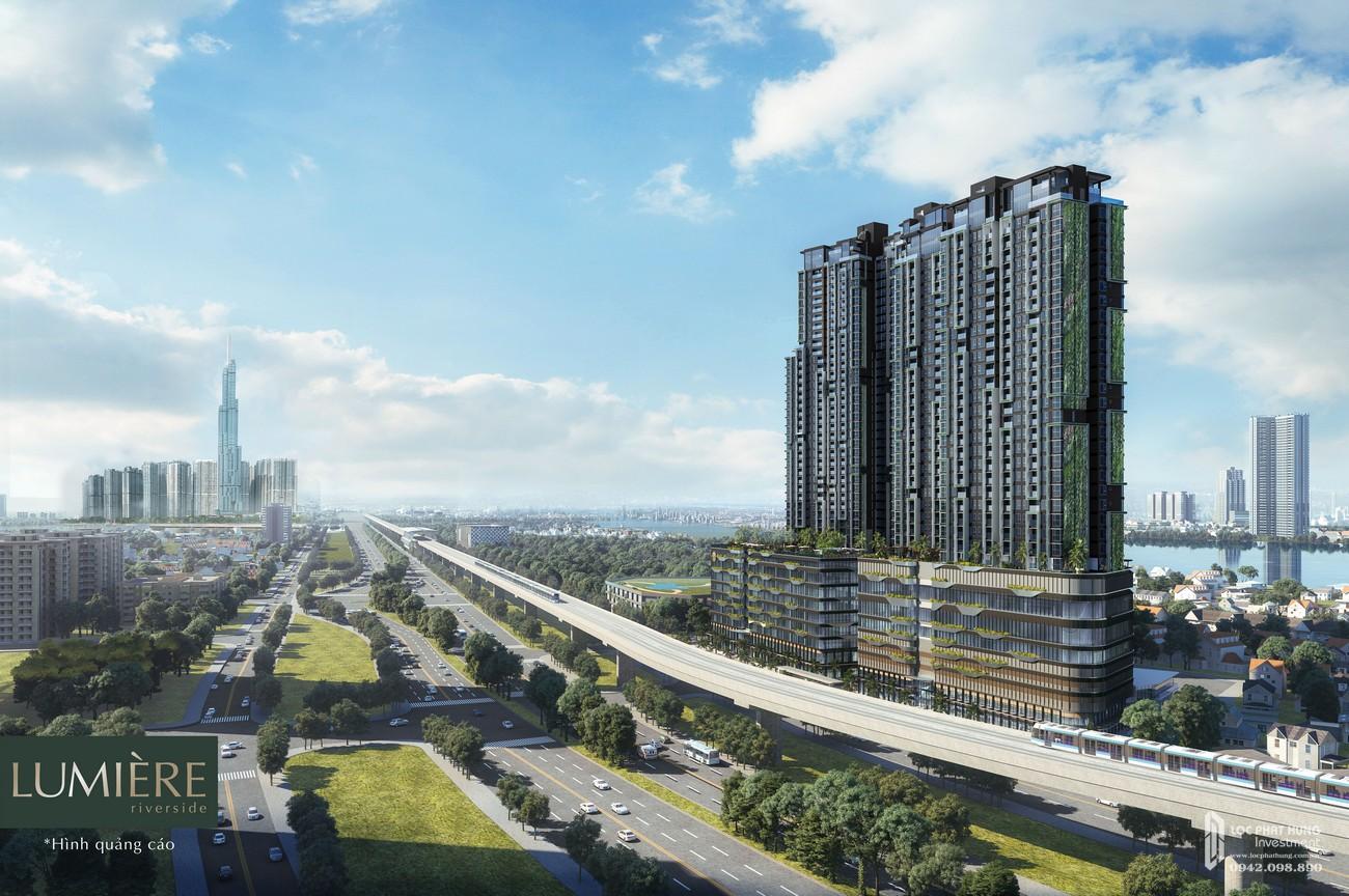 Phối cảnh tổng thể dự án căn hộ chung cư Masteri Lumière Riverside Quận 2 Đường Xa Lộ Hà Nội chủ đầu tư Masterise Homes