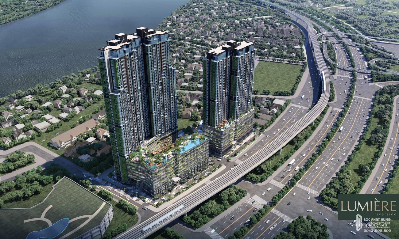 Phối cảnh dự án căn hộ chung cư Masterise Lumière Riverside Quận 2 Đường Xa Lộ Hà Nội chủ đầu tư Masterise Homes