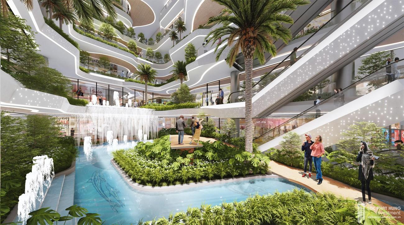 3 tầng hầm khối đế được thiết kế có giếng trời thông thoáng tạo sự tươi mới trong căn hộ.