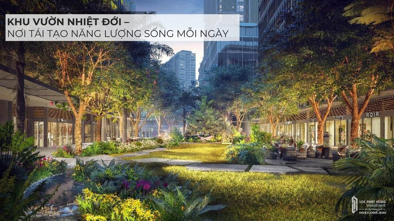 Vườn nhiệt đới dự án căn hộ chung cư Masteri Lumière Riverside Quận 2 Đường Xa Lộ Hà Nội chủ đầu tư Masterise Homes