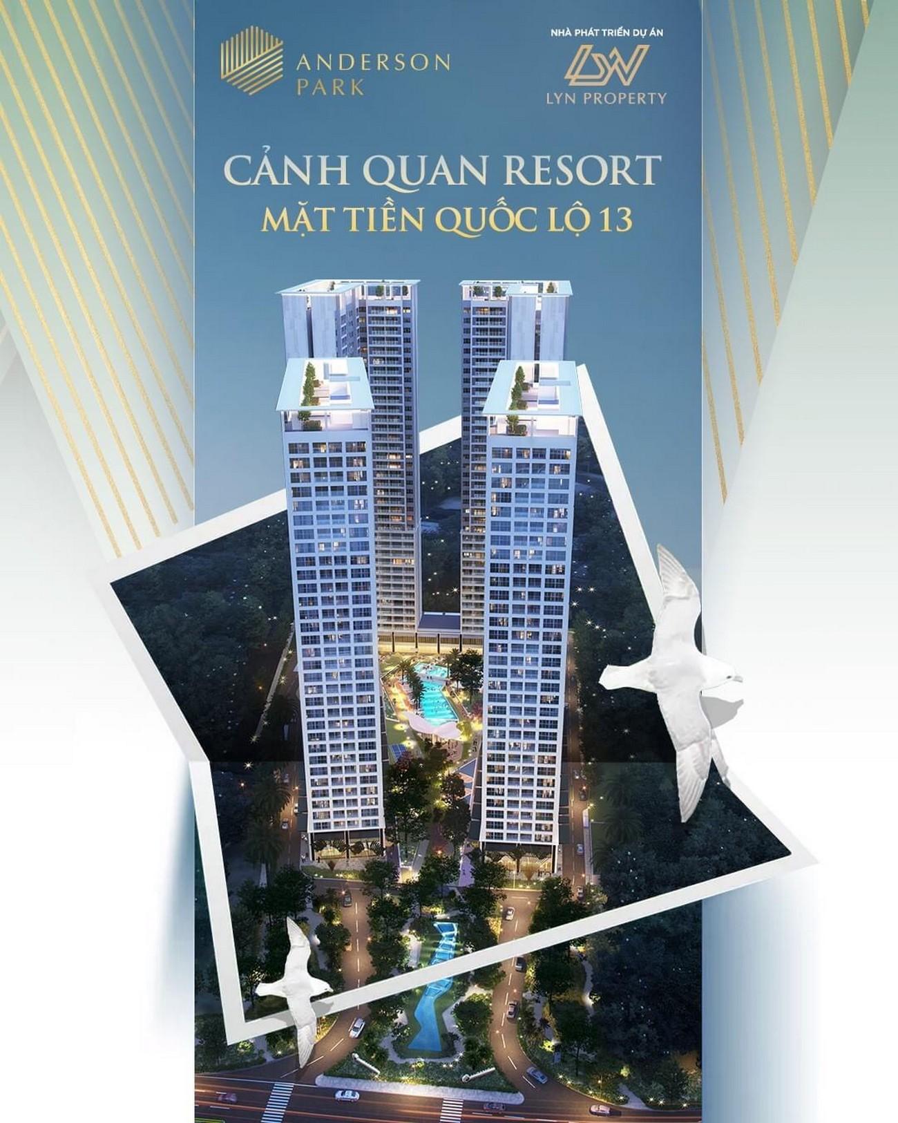 Phối cảnh tổng thể dự án căn hộ chung cư Lavita Hưng Thịnh Thuận An Đường Quốc lộ 13 chủ đầu tư Quốc Cường Gia Lai