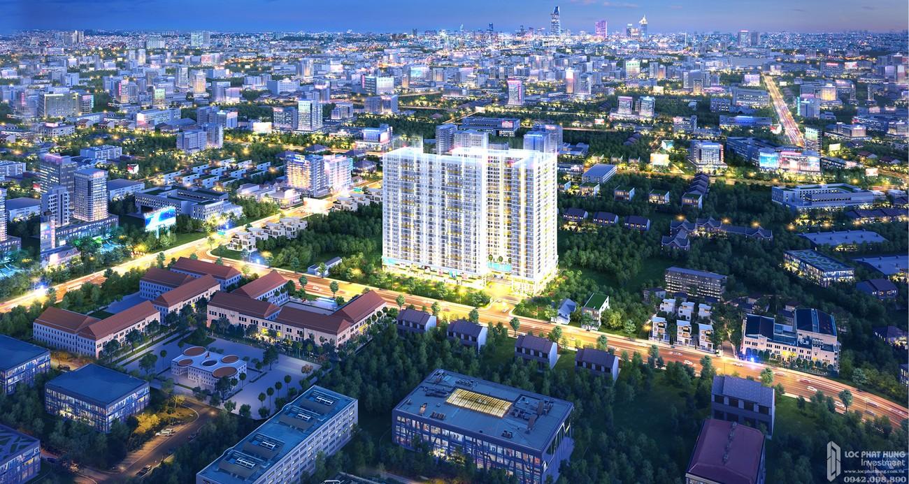 Phối cảnh tổng thể dự án căn hộ chung cư Legacy Central Thuận An Bình Dương chủ đầu tư Kim Oanh Group