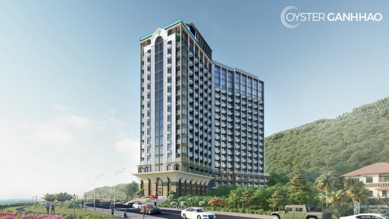 Phối cảnh tổng thể án căn hộ Condotel Oyster Gành Hào Vũng Tàu chủ đầu tư Vietpearl Group