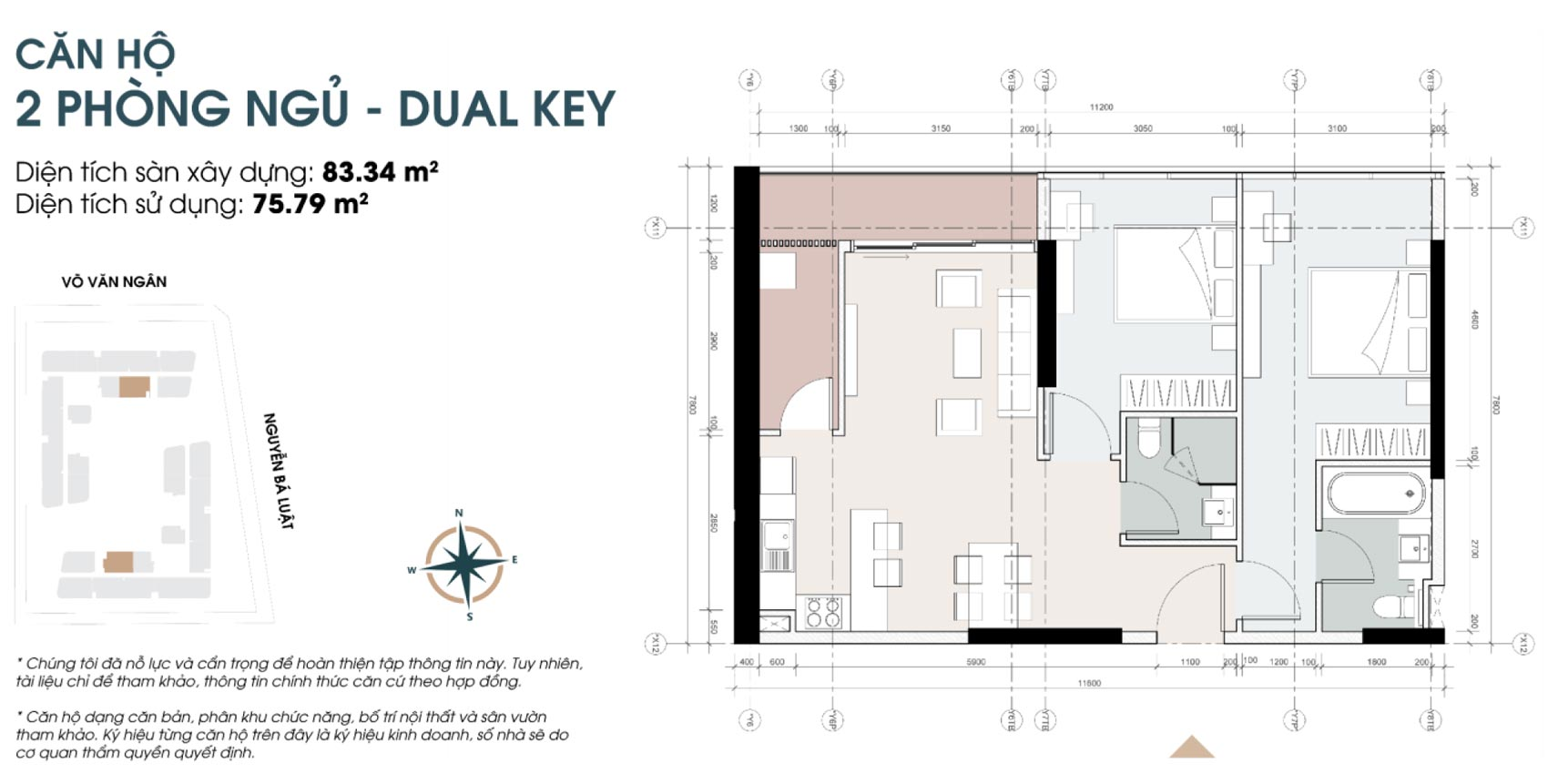 Thiết kế chi tiết dự án căn hộ King Crown Infinity loại phòng ngủ diện tích