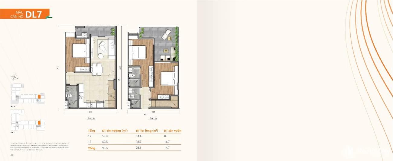 Thiết kế chi tiết căn hộ chung cư Ricca Quận 9 - Loại Duplex