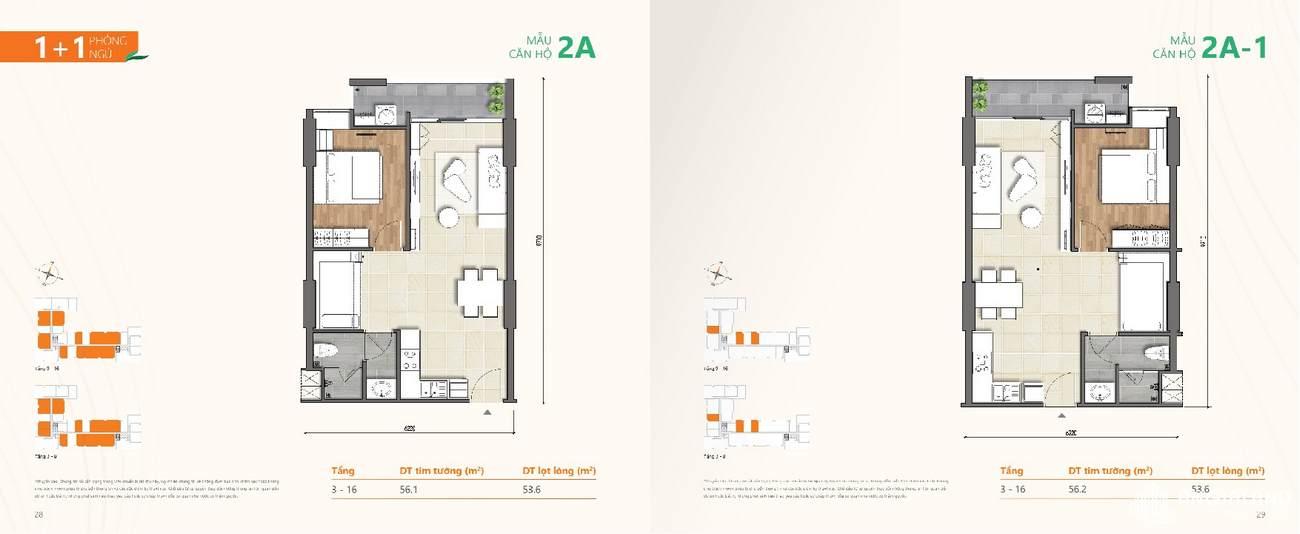 Thiết kế chi tiết căn hộ chung cư Ricca Quận 9 - Loại 1 phòng ngủ + 1