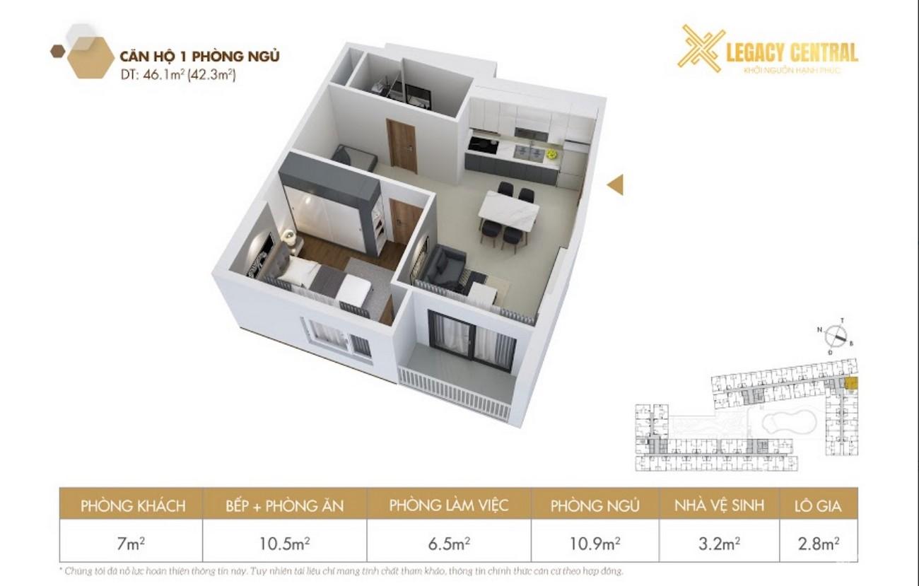 Thiết kế dự án căn hộ chung cư Legacy Central Thuận An Bình Dương chủ đầu tư Kim Oanh Group