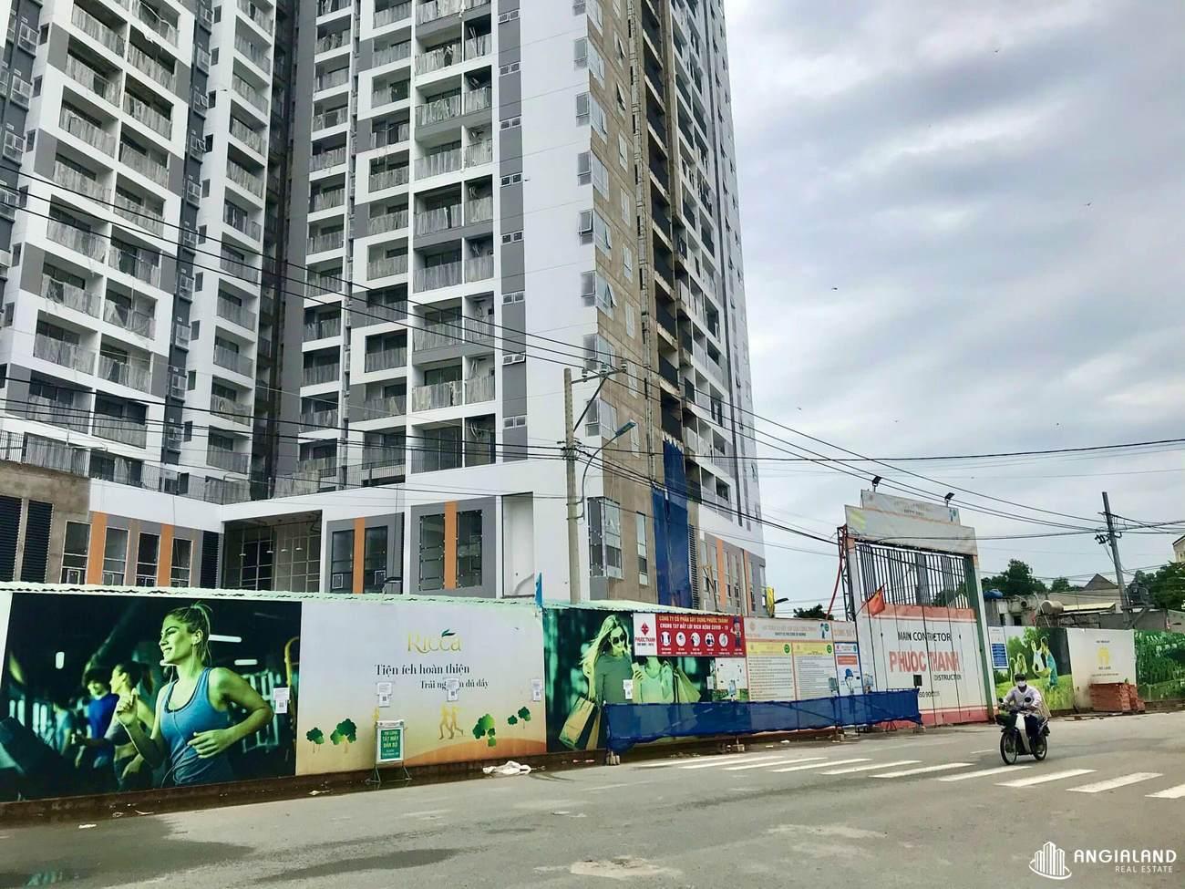 Tiến độ xây dựng chung cư Ricca Quận 9 tháng 07/2021