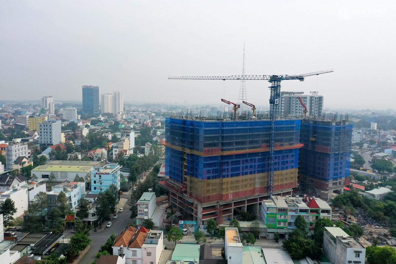 Tiến độ xây dựng tháng 02/2021 C Skyview Bình Dương