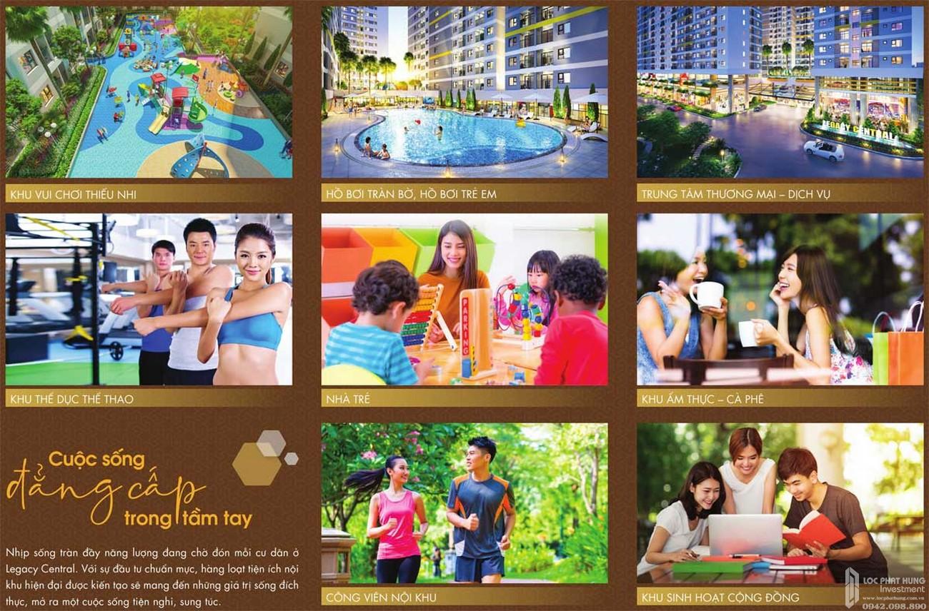 Tiện ích dự án căn hộ chung cư Legacy Central Thuận An Bình Dương chủ đầu tư Kim Oanh Group