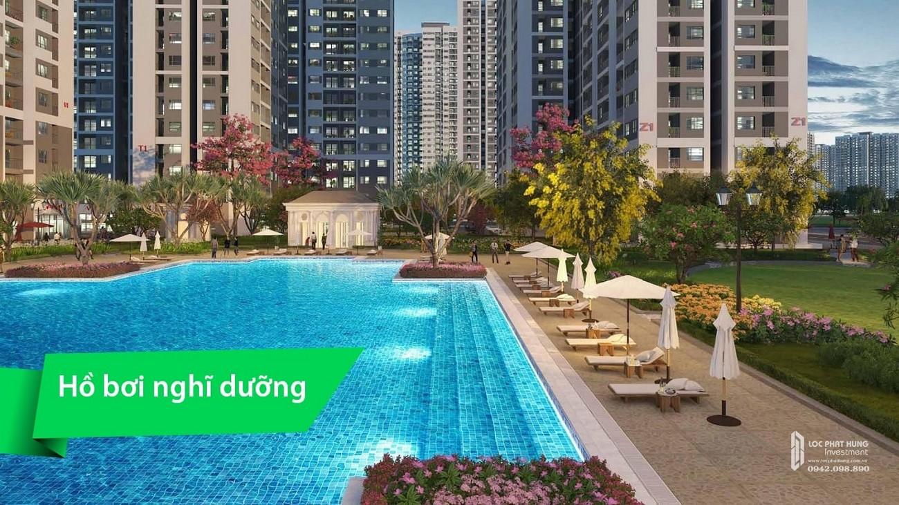 Tiện ích hồ bơi dự án căn hộ chung cư Vinhomes Grand Park Quận 9 Đường Nguyễn Xiển chủ đầu tư Vingroup