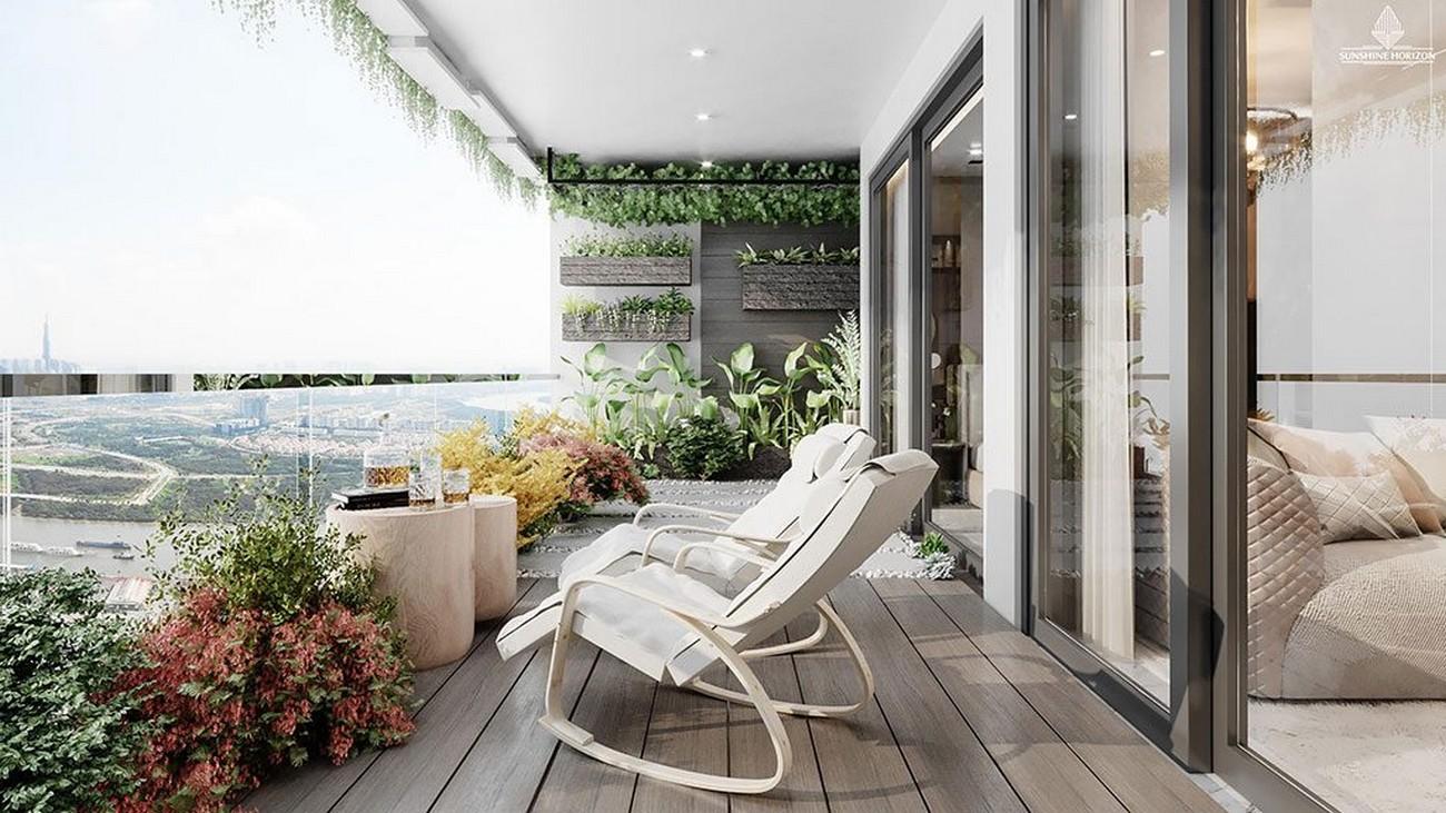 Tặng vườn xanh logia với thiết kế đẹp mắt cho khách hàng Sunshine Horizon Quận 4