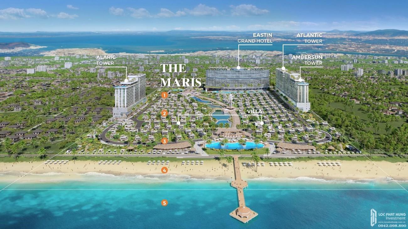 Tiện ích dự án biệt thự biển condotel The Maris chủ đầu tư Trùng Dương Corp