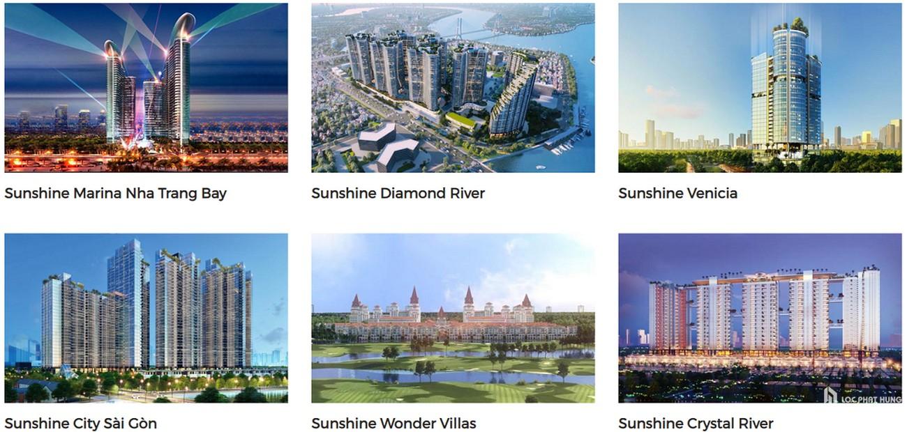 Danh sách các dự án chủ đầu tư Sunshine Group đã và đang triển khai.