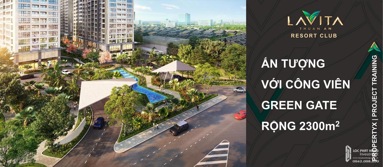 Tiện ích công viên xanh dự án Lavita Thuận An