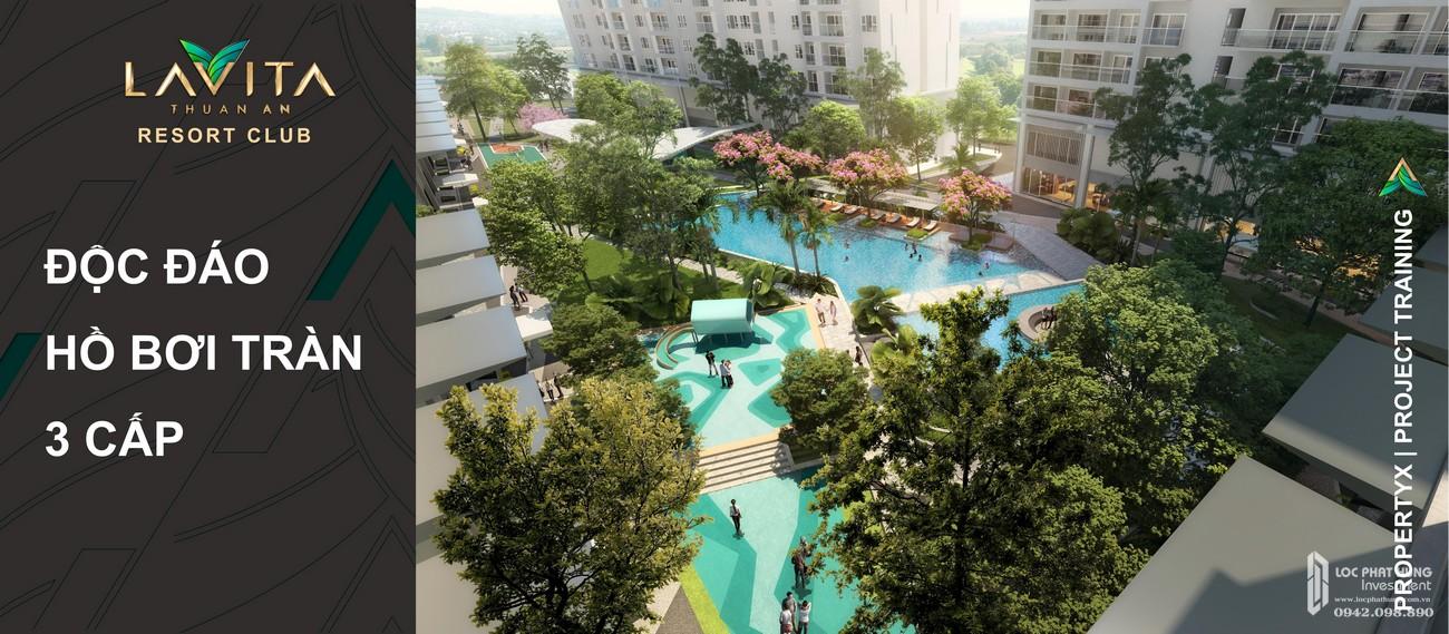 Tiện ích  hồ bơi tràn dự án Lavita Thuận An độc đáo