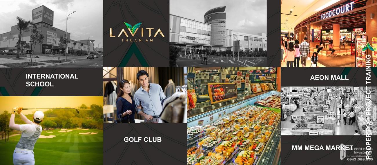 Vị trí kết nối ngoại khu đầy đủ tiện nghi dự án Lavita Thuận An