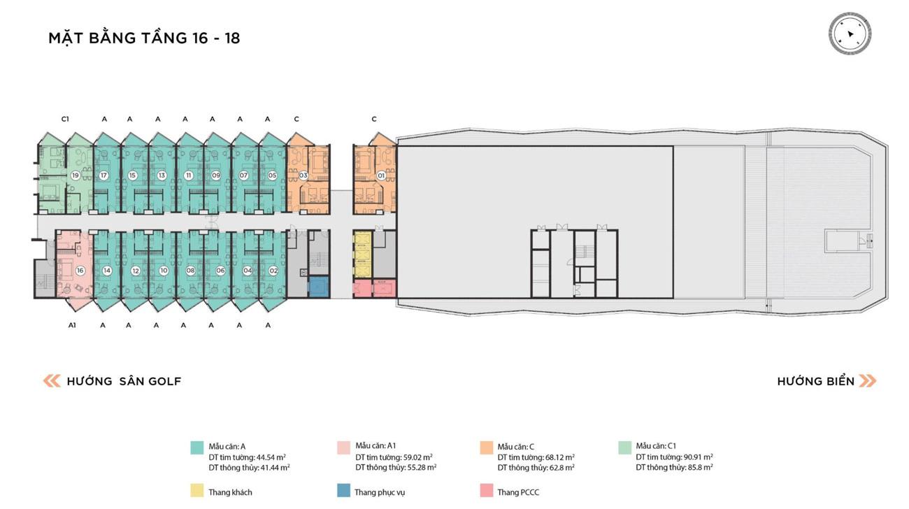 Mặt bằng dự án căn hộ The Maris Vũng Tàu