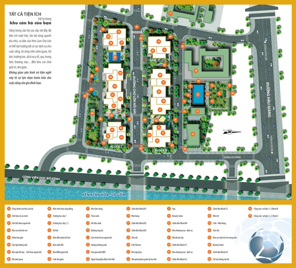 Mặt bằng dự án căn hộ chung cư Central Premium Quận 8 Đường Tạ Quang Bửu chủ đầu tư Giai Việt