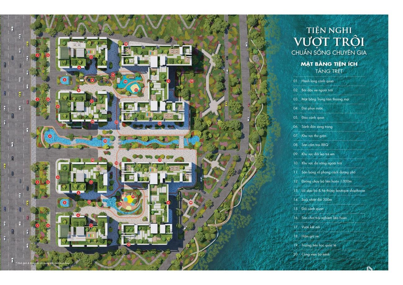 Mặt bằng tiện ích dự án căn hộ Astral City Bình Dương Đường Quốc lộ 13 chủ đầu tư Phát Đạt Group