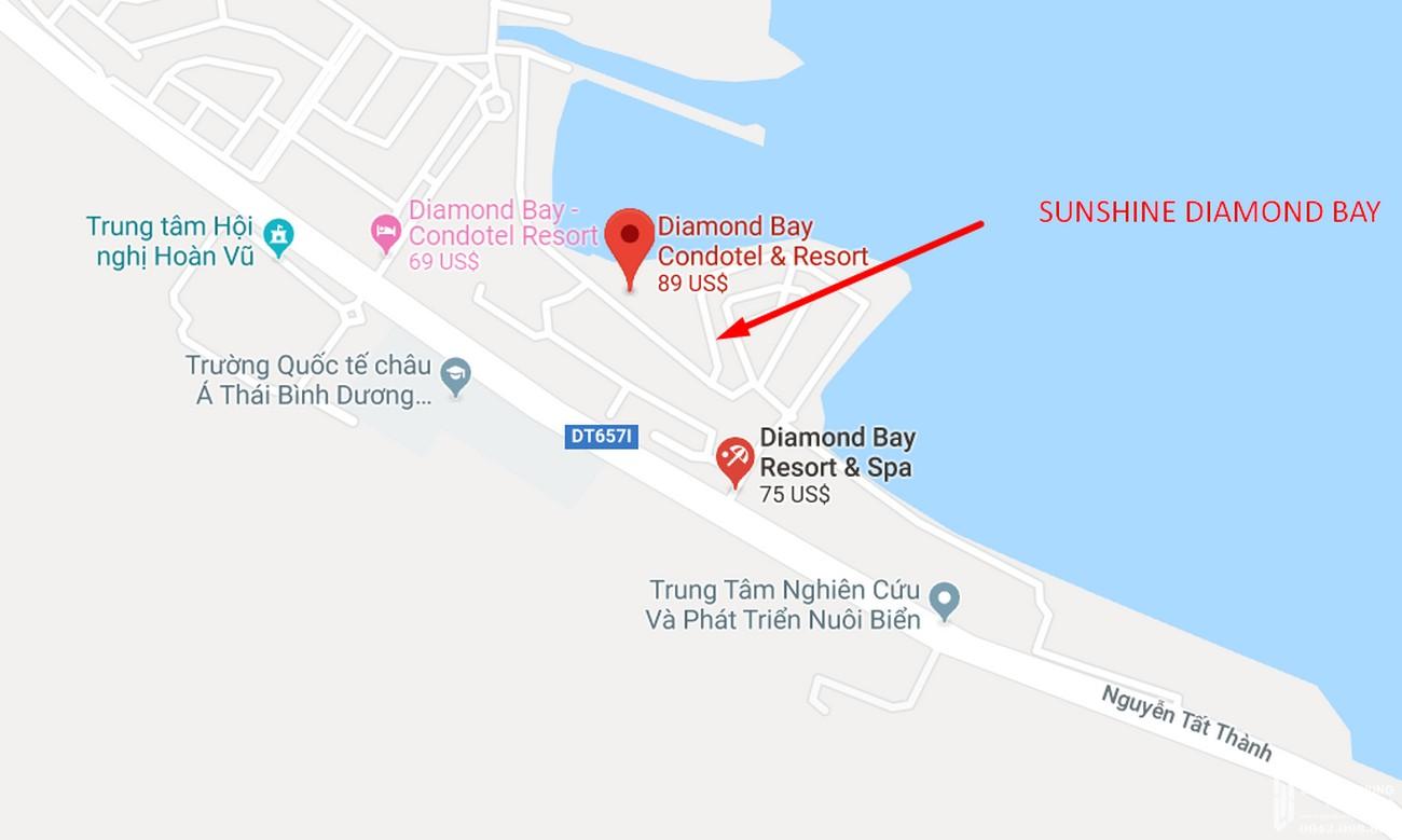 Vị trí dự án biệt thự condotel Sunshine Diamond Bay Nha Trang